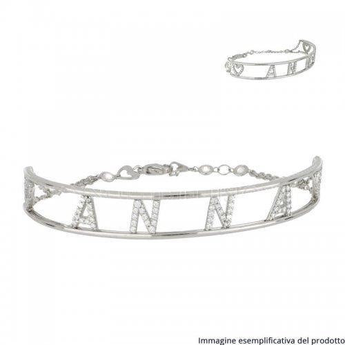 Bracciale Oro Bianco Nome Personalizzabile 803321737507