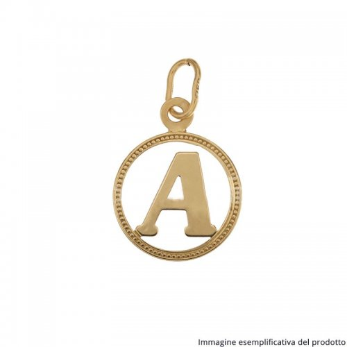 Initial Letter Name Pendant Yellow Gold 803321716095