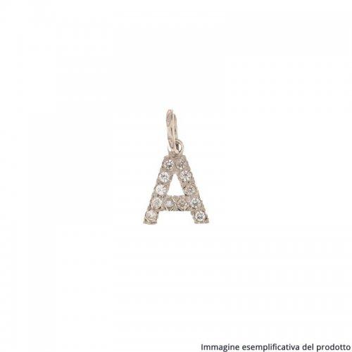 Initial Letter Pendant Name White Gold 803321732841