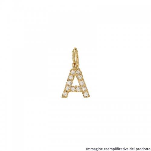 Ciondolo Lettera Iniziale Nome Oro Giallo 803321736145