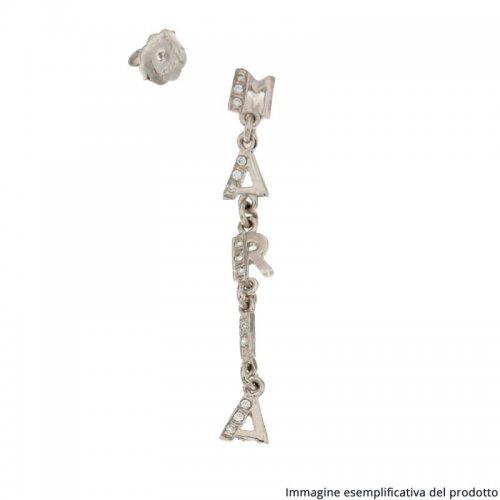 White Gold Single Earring Customizable Name 803321723665