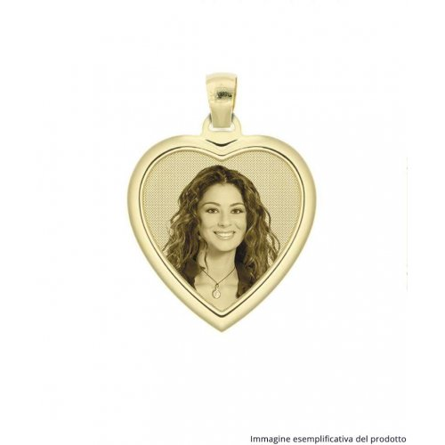 Heart-shaped engraved medal with rounded frame CIB 35.1 AU