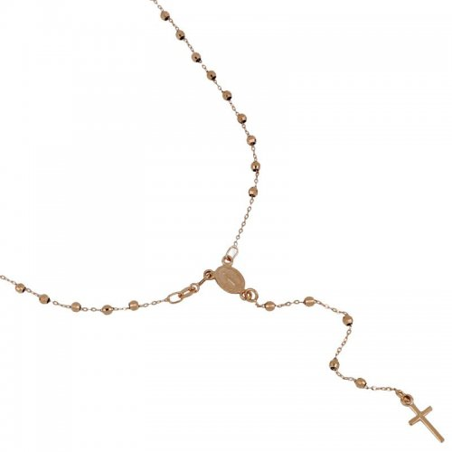 Rosary Necklace Rose Gold 803321716862