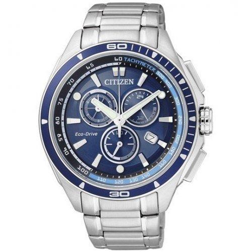 Orologio Citizen da uomo in acciaio AT0951-53L Eco drive Cronografo