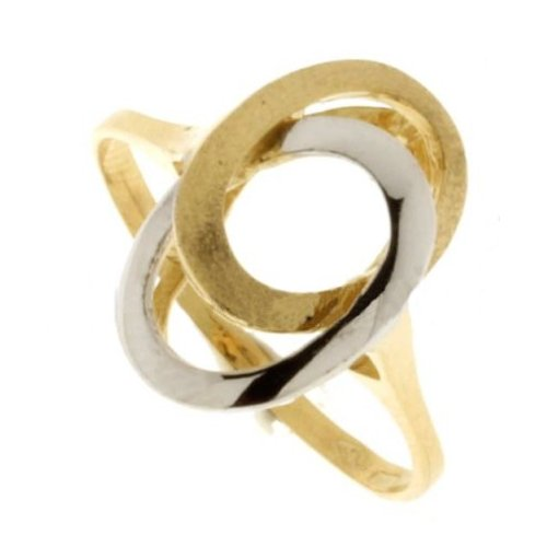 Yellow White Gold Woman Ring 803321714254