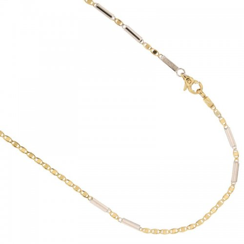 Yellow and White Gold Men's Necklace 803321735555