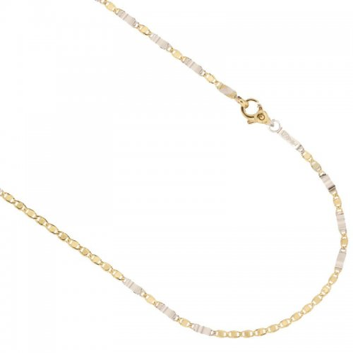 Yellow and White Gold Men's Necklace 803321735557