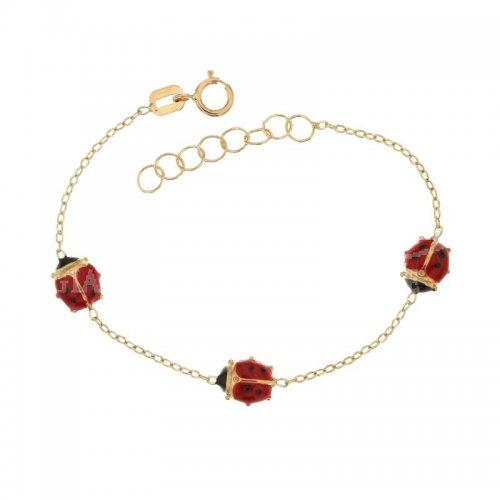 Yellow gold girl's bracelet 803321721739