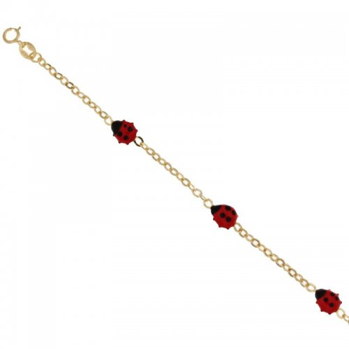 Ladybugs yellow gold girl's bracelet 803321729127