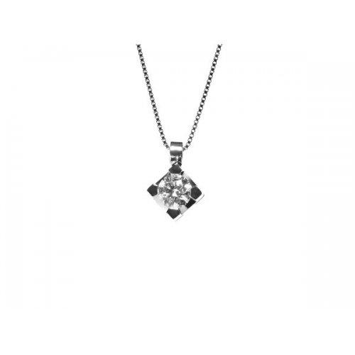 Necklace Promesse Gioielli Woman Point of Light Diamond PPLX