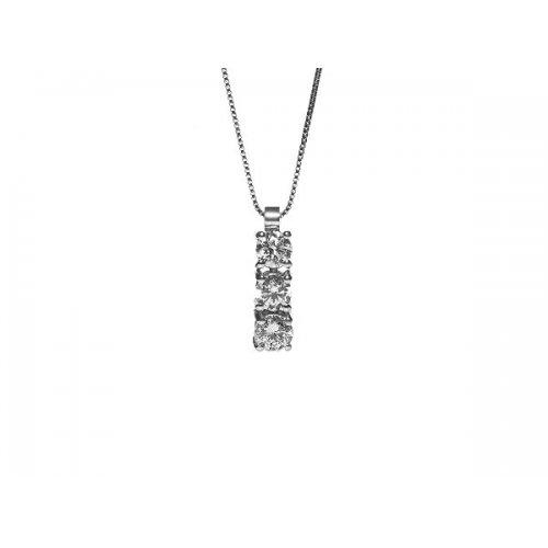 Necklace Promesse Jewelery Woman Trilogy Diamonds GTRY