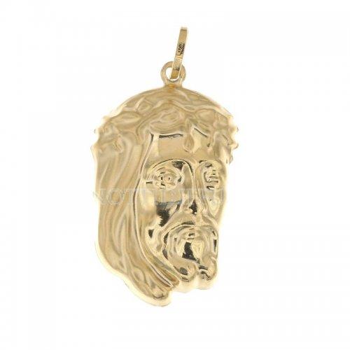 Ciondolo volto di Gesu' oro giallo 803321712032