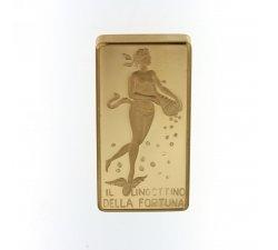 Lingotto della fortuna Unoaerre 100 grammi oro 750 18kt