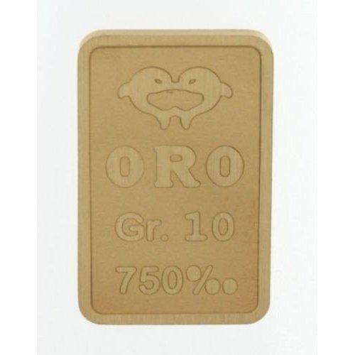Lingotto in oro 750/00 18 kt da 10 grammi