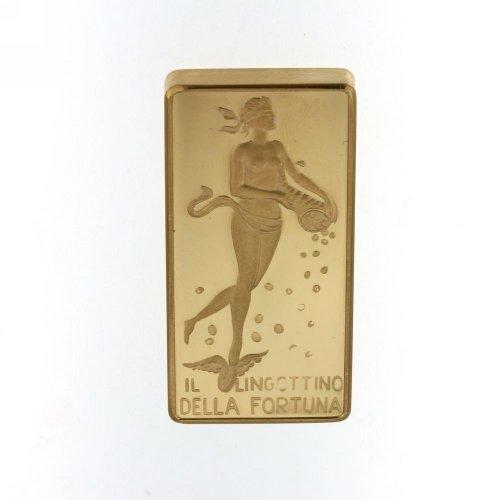 Unoaerre fortune ingot 15 grams 750 18kt gold
