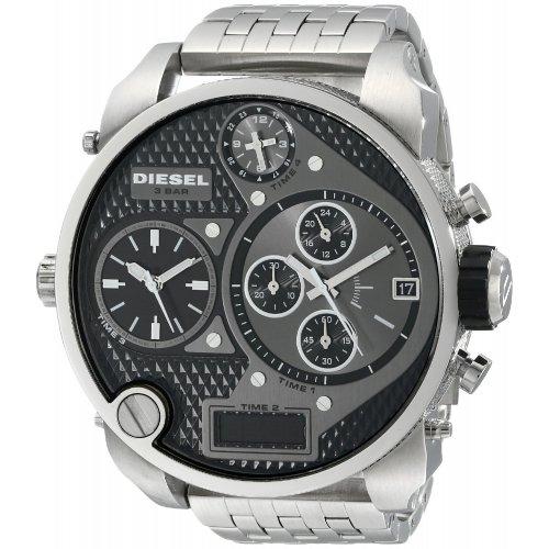 Orologio da uomo DIESEL Mr Daddy DZ7221 Cronografo in acciaio