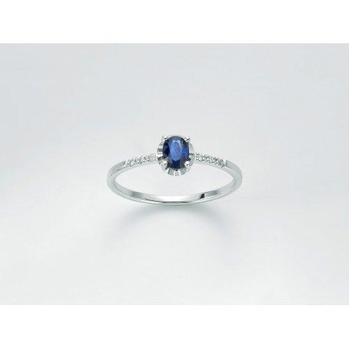 Yukiko Woman Ring White Gold Blue Sapphire LID3360Y